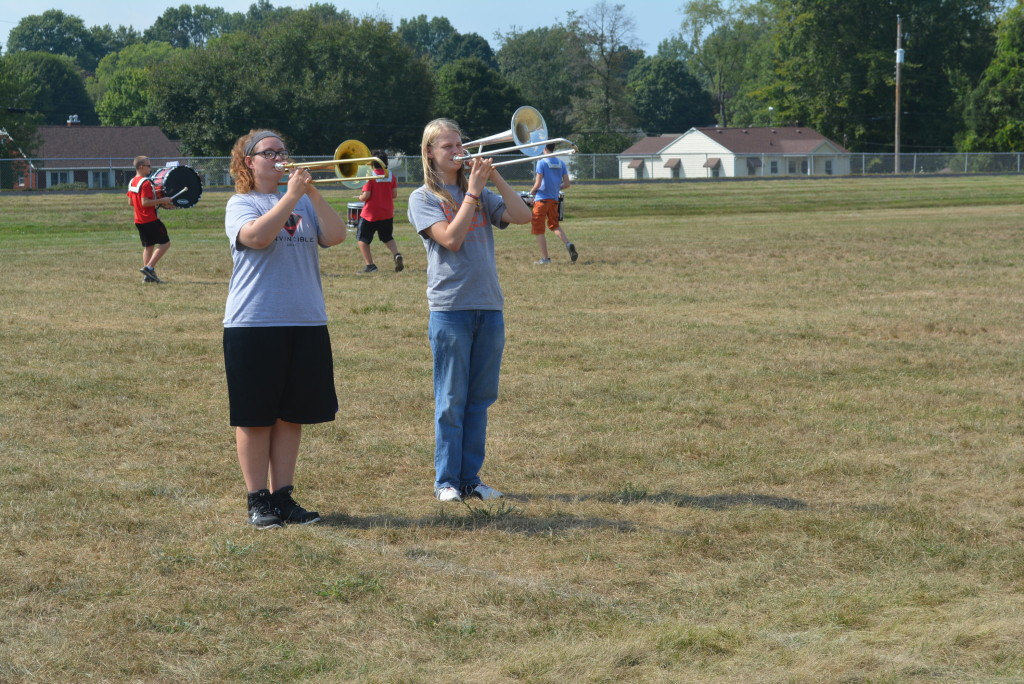 CHS band practice01