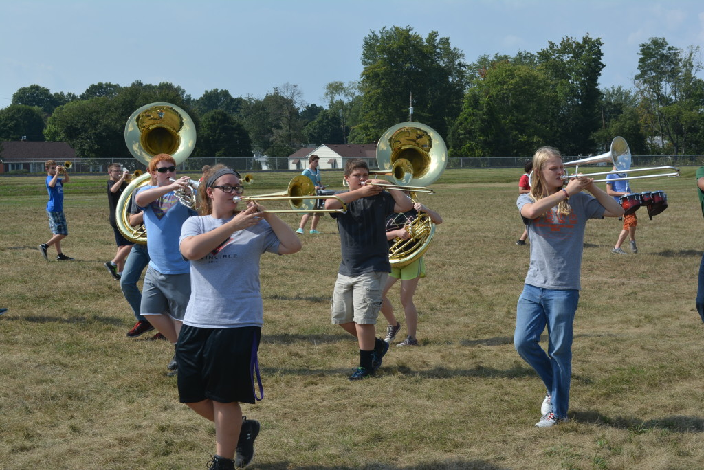 CHS band practice07