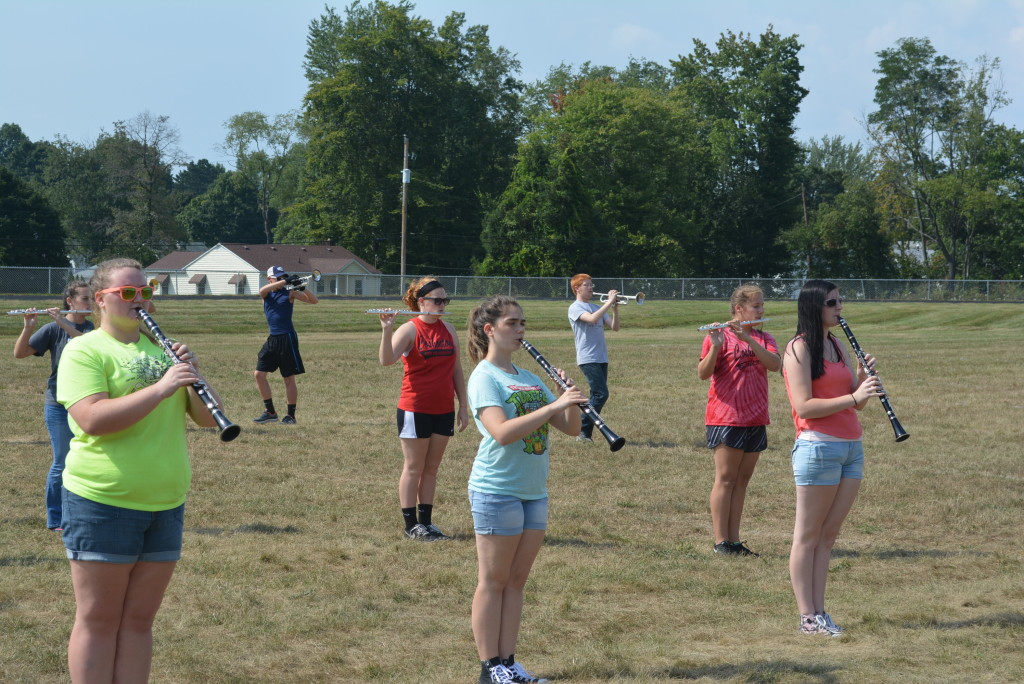 CHS band practice09