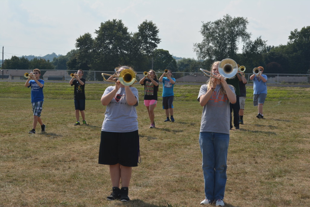 CHS band practice10