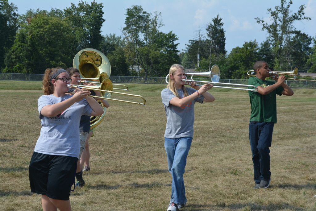 CHS band practice11