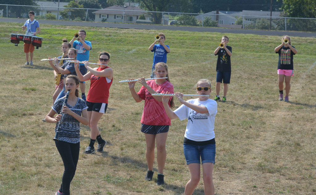 CHS band practice12
