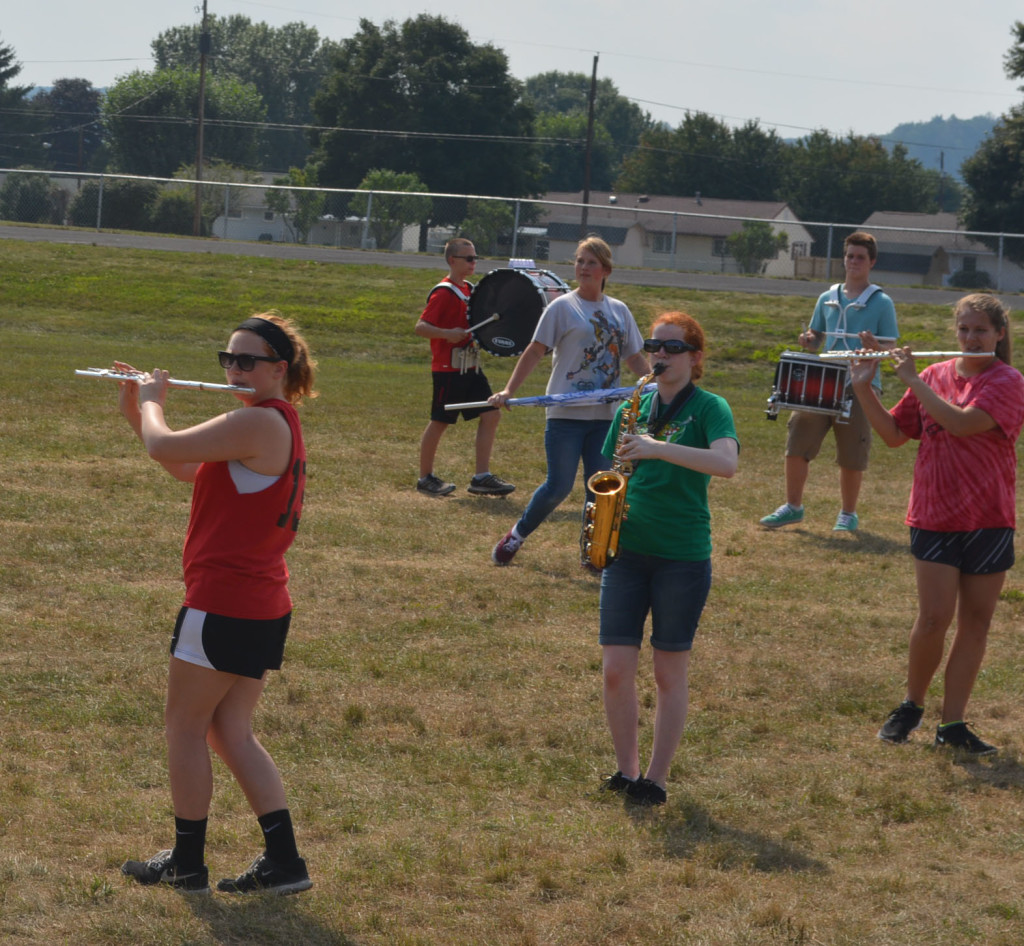 CHS band practice14
