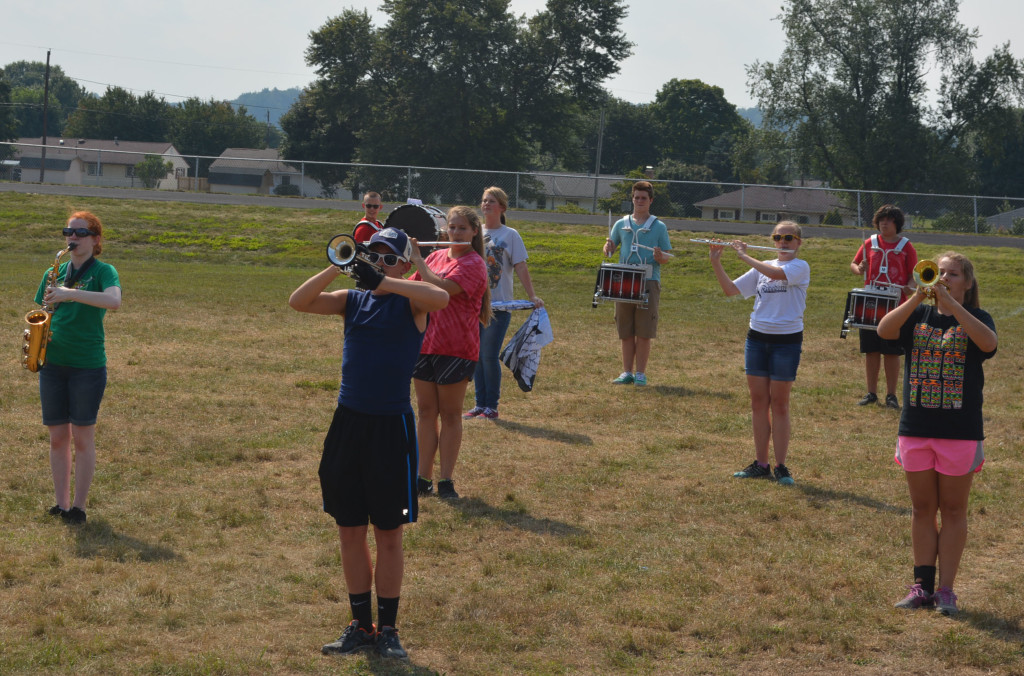 CHS band practice15