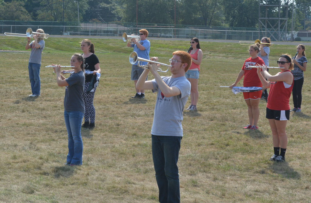 CHS band practice16