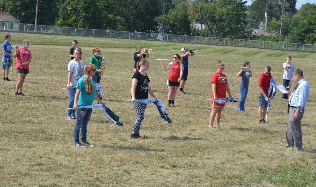 CHS band practice17