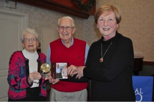 Award: Bonnie L. Coe, Ph.D., president of COTC, is pictured at right with Robert and Joan Robinson. Photo contributed to The Beacon