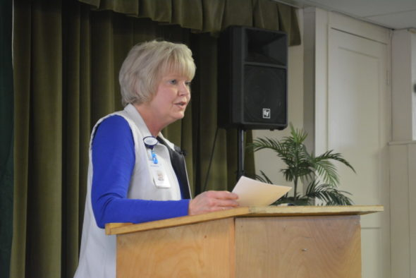Cathy Hudson was the speaker at the final Coshocton County Lenten Luncheon of the season on April 5. She was introduced by her pastor, the Rev. Jeremy Roseberry. Josie Sellers | Beacon