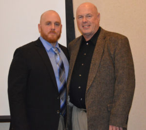 Chad Lahna is pictured with Tim Mead, who coached him in baseball at Walsh University. Contributed | Beacon