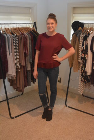 Elle Coffman, a junior at Coshocton High School, is now a rep for Shop Stevie and has her own boutique set up in her home where she can help clients find the right piece of clothing for their special occasion or everyday life. Josie Sellers | Beacon