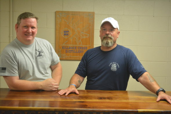 Rob Ashcraft and Larry Turner are the owners of Killbuck Creek Distillery, LLC which is located in the former Randles Cheese building on U.S. 36. Josie Sellers | Beacon