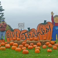 Church display encourages people to give thanks