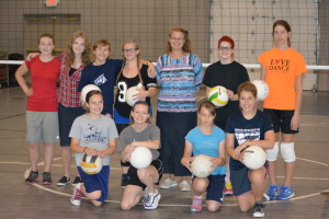 Volleyball: It took the Coshocton Christian School a while to find a volleyball coach, but they have one now and the girls are looking forward to a season of fun and learning. Beacon photo by Josie Sellers