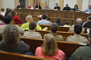 Meeting: Council chambers was packed for the Feb. 8 meeting that included discussion on a proposed water rate increase that will be passed on to citizens. Beacon photo by Josie Sellers