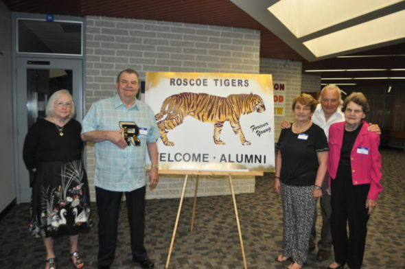 "The 124th annual Roscoe Alumni Banquet was held on Saturday evening, May 20 at the Coshocton County Career Center. The class of 1957 was honored. Five members of the class of 1957 attended and are pictured: Janice Conkle, Jerry Bowman, Ethel ""Starcher"" Hawkins, Roy Aronhalt and Shirley ""Thomas"" Dickerson. Mark Fortune 