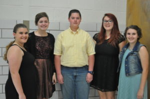 L.E.O. Club Officers pictured from left are: President Augusta Kinzel, Vice President Josie Gray, Executive Committee members Henry Hall and Megan Salmons, and Secretary Brett Kinzel. Mark Fortune | Beacon