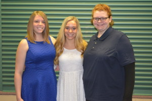 The Coshocton County Board of Realtors honored its four $1,000 scholarship recipients at their June luncheon. Pictured are Kylie Art, Skylar Hasseman and Kathryn Chittum. Jade Poorman, the fourth winner of the scholarship was unable to attend the luncheon. Josie Sellers | Beacon