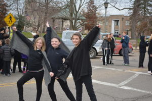 Elissa Harper, Jadyn Art and Brianna McConnell pose for a group picture after performing at the Third annual Crow Homecoming in 2014. The event returns this year and will be held from 2 to 4 p.m. Sunday, Oct. 30 at the artPARK on Main Street. File | Beacon