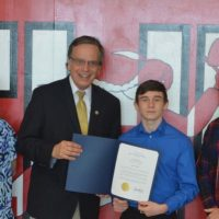 CHS's Brink honored by secretary of state