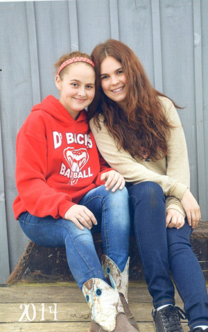 Friends: Kellyn Donaker is pictured with her family's Germany exchange student Alonja Weigert. The two have quickly become friends since Weigert's arrival in August. Photo contributed to The Beacon.