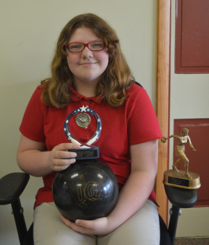 Jade Gabor is only in the fourth grade, but she already has qualified for the Pepsi State Bowling Tournament and has multiple bowling trophies. Josie Sellers/Beacon