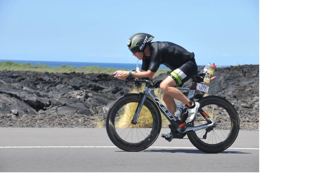 The Ironman consists of three parts. The first is a 2.4 mile swim, followed by 112 miles on a bike and finally, finishing with a 26.2 mile marathon.