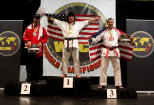 """In 1984, Jon McFarland watched """"The Karate Kid"""" and knew karate was something he really wanted to try. Now he is a world champion and has his own school inside of Kids America. Contributed 