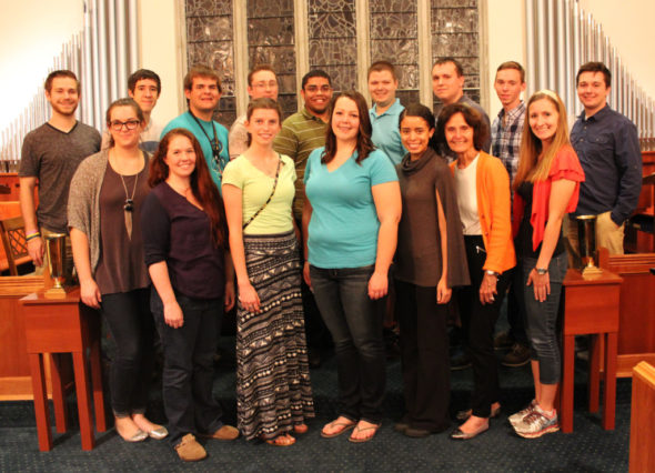 New and returning members of the choir include: Front Row: Left to Right: Emily Els, Heather Palenshus, Karysa Kent, Catherine Reese, Kelly Florian, Sharon Sutton, and Jennifer Shanks; Back Row: Andy Hall, Quinn Wherley, Michael Belt, Everett Hall, Bryan Still, Nathan Shutt, Austin Youker, Jordan Conner, and Levi Masters. Not pictured: Ruth Edwards, Janet Boyd, Kayla Cowden, and Tyler Hahn. Contributed | Beacon