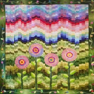 This year's opportunity quilt was designed and quilted by Carolyn Mann, a member of the Coshocton Canal Quilters. It will be up for raffle at the Quilt Show.