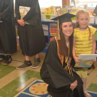 RVHS seniors march through elementary schools, present gifts to kindergarteners