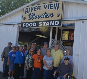 Reunion: Members of the River View High School class of 1966 united on Oct. 5 at the Coshocton County Fair. The group is hoping to plan a big celebration for its 50th reunion in 2016. Beacon photo by Josie Sellers