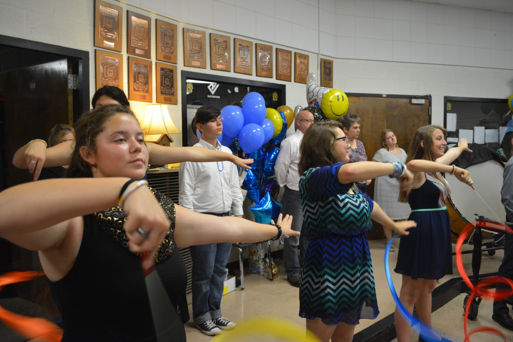 RVHS marching band balloon day29