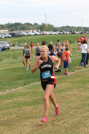CHS: Mary Skelton runs with Ridgewood's Cross Country team, but represents the Coshocton Redskins.