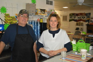 Owners: Jim Eubank and Karen Casey opened Cockadoodledoo, a breakfast only restaurant on Dec. 29, 2014. The restaurant is located at 1330 S. Sixth St. inside of Alpha Bits & Bytes. Beacon photo by Josie Sellers
