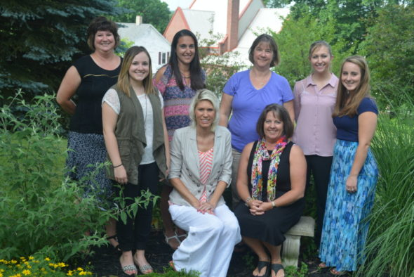 The staff at Sacred Heart School this year will include: Front row, from left – Stephanie Myers, Carrie Garabrandt, Mary Kobel, Amber Lonsinger; back row – Lisa Myers, Valeree Bryant, Sheryl Moses and Britanie Powers. Josie Sellers | Beacon