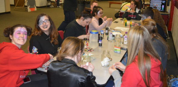 Students enjoyed astronomy themed crafts at the Star Party held April 21 at Coshocton High School. Josie Sellers | Beacon
