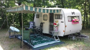 Camper: Pictured is Gail Hinshaw's lovingly restored home away from home, a 1967 Serro Scotty. Photo contributed to The Beacon