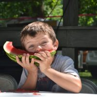 Watermelon eating contest a highlight of park social